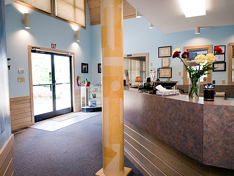 Phelps Family Dentistry office lobby in Wilmington, NC